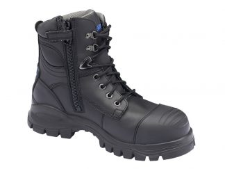 Blundstone Black Lace up with Zip Safety Boot B997
